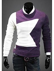 nuovo maglione di colore di contrasto di arrivo uomini di luccio