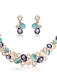 cheap -Jewelry Set Earrings / Necklace - European Rainbow Jewelry Set For Wedding / Party / Birthday