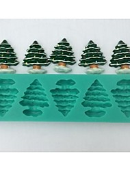Natal árvore fondant ferramentas bolo de chocolate bolo de silicone molde de decoração