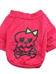 Katzen / Hunde T-shirt Rose Hundekleidung Frühling/Herbst Totenkopf Motiv