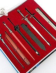 Epée / Plus d'accessoires Inspiré par Sword Art Online Cosplay Anime Accessoires de Cosplay Porte-clés Noir / Bleu / Argenté Alliage