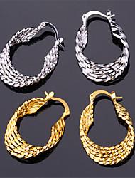 U7®Vintage Women's 18K Real Gold Platinum Plated Earrings Basketball Wives Hoop Earrings for Women