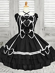 Doce Lolita Mulheres Uma Peça Vestidos Cosplay Sem Manga