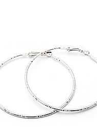 cheap -Women's Hoop Earrings - Personalized Simple Style Silver Golden Circle Earrings For Party Daily Casual