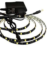 Недорогие -jiawen® водонепроницаемый 1м 5w 60x5050smd белый / теплый белый привело гибкой полосы света + 1а питания (переменного тока 110-240В)