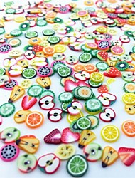 cheap -300PCS Mixed Style Fimo Slice Fruit Series Nail Art Decoration