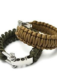 braccialetto di sopravvivenza Escursionismo Arrampicata Emergenza Nylon acciaio inossidabile lega di alluminio Verde Nero Marrone