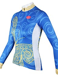 cheap -ILPALADINO Women's Long Sleeve Cycling Jersey - Blue Bike Jersey, Quick Dry, Breathable