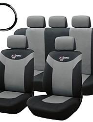 abordables -tirol asiento de coche universal, 10 piezas / set cubierta trasera frente gris para sedanes crossovers SUV