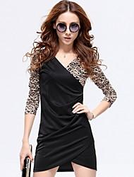 Недорогие -v шеи кружево Bodycon платье ledise женщин