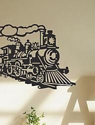 adesivos de parede decalques da parede, steamer trem do vintage máquina a vapor cita parede pvc adesivos