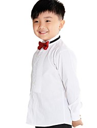 お買い得  -Boy's Tuxedo Shirt  with Long Sleeves 100% Cotton(Combed Cutton) High Quality White Shirt for Kids