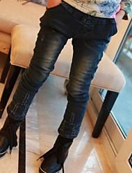 Jeans Sólido Inverno Primavera Outono Cor Ecrã