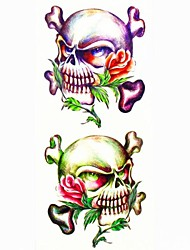 cheap -1pc Other Skull Waterproof Tattoo Sample Mold Temporary Tattoos Sticker for Body Art(18.5cm*8.5cm)