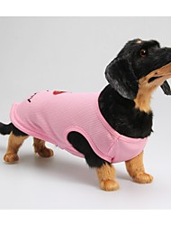 preiswerte -Hund T-shirt Hundekleidung Lässig/Alltäglich Buchstabe & Nummer Rosa Kostüm Für Haustiere
