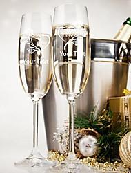 abordables -cadeau personnalisé une paire de verre de champagne liwuyou ™