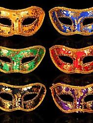 пластик фантазии платье партии Хэллоуин маска (случайный цвет)