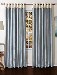 moderne to paneler helt blå stue polyester panel gardiner forhæng