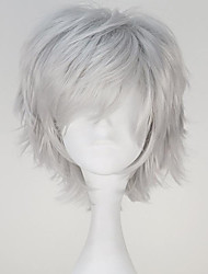 cheap -Cosplay Wigs Tokyo Ghoul Ken Kaneki Gray Short / Straight Anime Cosplay Wigs 32 CM Heat Resistant Fiber Male