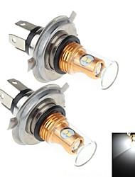 2pcs 8W h4 8x Samsung 2323 SMD 900lm 6000k weißes Licht führte für Autobremse / Signallenkung / Nebellicht-Lampe (DC10 ~ 30V)