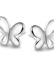 Недорогие -Жен. Серьги-гвоздики Стерлинговое серебро Серьги Бижутерия Серебряный Назначение Свадьба Для вечеринок Повседневные