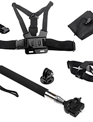 cheap -Telescopic Pole Chest Harness Front Mounting Case/Bags Hand Grips/Finger Grooves Monopod Tripod Mount / Holder For Action Camera Gopro 5