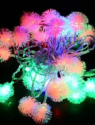 4M 28LED Fuzzy Ball String Fairy Light Christmas Xmas Party Wedding Decoration