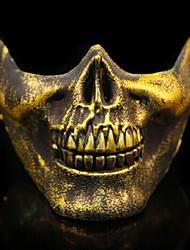 abordables -guerrero esqueleto 3 material plástico fiesta de disfraces de halloween máscara (color al azar)