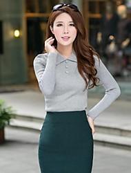 povoljno -Žene Vintage Pullover Jednobojni