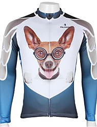cheap -ILPALADINO Cycling Jersey Men's Long Sleeves Bike Jersey Top Quick Dry Ultraviolet Resistant Breathable 100% Polyester Cartoon Animal