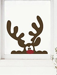 cheap -JiuBai® Christmas Reindeer Wall Sticker Wall Decal, 40*38