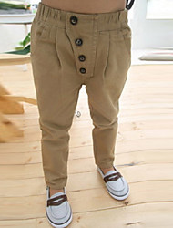 Boy's Fashion Pure Color Vintage Casual Pants
