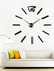 "cheap -39""W Large Szie Creative Diy 3D Sticker Acrylic  Wall Clock"