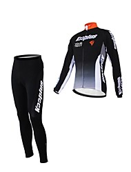 Kooplus Maglia con pantaloni da ciclismo Per donna Per uomo Unisex Maniche lunghe Bicicletta Maglietta/Maglia Set di vestitiZip