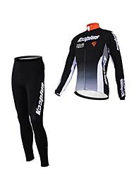 cheap -Kooplus Men's Women's Unisex Long Sleeves Cycling Jersey with Tights Bike Jersey Clothing Suits Text Color 6# Text Color 7# Text Color 8#