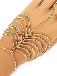cheap -Women's Chain Bracelet Unique Design Tassel Casual Multi Layer Fashion Alloy Others Jewelry Party Gift Valentine Costume Jewelry Gold