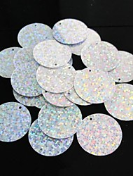 25PCS Colorful Light Circle Sequin 2.5cm Handmade DIY Craft Material/Clothing Accessories
