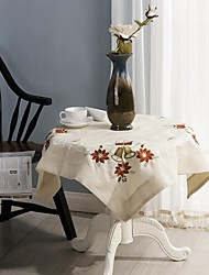 Christmas Table Cloths Classical Embroidery Tablecloth 85*85cm