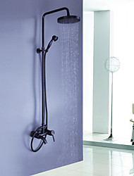cheap -Shower Faucet - Antique Oil-rubbed Bronze Shower System Ceramic Valve