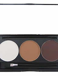 cheap -3 Color 3in1 Matte Professional Eyebrow Powder/Eye Shadow/Bronzer Makeup Cosmetic Palette with Mirror&Applicator Set
