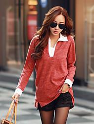 camisa top das mulheres Muyan