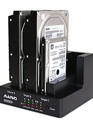 Недорогие -maiwo k3093 USB3.0 1: 2 клон 3bay SATA HDD док-станция дубликатор