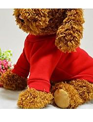preiswerte -Hund T-shirt Pullover Hundekleidung Solide Schwarz Rot Blau Rosa Baumwolle Kostüm Für Haustiere Herrn Damen Niedlich