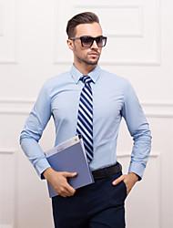 camicia di poliestere del cotone maniche lunghe del collo classico / semi-diffuso per i vestiti
