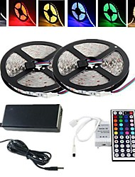 cheap -ZDM® 2x5M Light Sets 2*150 LEDs 5050 SMD 1 12V 6A Adapter / 1 44Keys Remote Controller / 1 AC Cable RGB Cuttable / Waterproof / Decorative 1set / IP65 / Self-adhesive