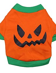 Cat / Dog Costume / Shirt / T-Shirt / Outfits Orange Dog Clothes Spring/Fall Cartoon Cosplay / Halloween
