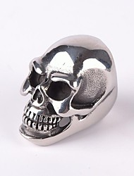 cheap -Men's Statement Ring - Titanium Steel Skull Vintage, Punk, Gothic 7 / 8 / 9 Silver For Christmas Gifts / Party / Daily
