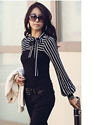 billige -Dame-Stribet Gade Skjorte