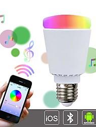 Недорогие -ч + люкс ™ привело A65 E27 10w 51x5630smd 850lm 3000-6000k управления rgbcw Bluetooth изменения цвета смарт лампочку (AC85-265V)