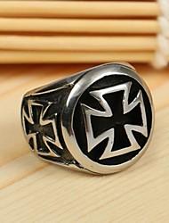 europa titanio anello in acciaio croce personalità degli uomini